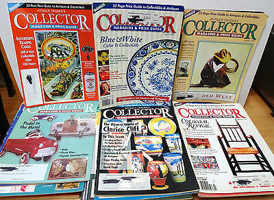Lot of 47 ANTIQUE TRADER'S COLLECTOR MAGAZINE & PRICE GUIDE 1994, 95, 96, 97, 98
