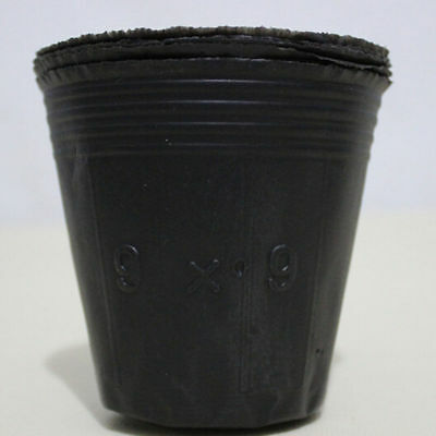 100PCS/SET Round  Nutritional Black Plastic Nursery Pots Seedlings Plants Pots