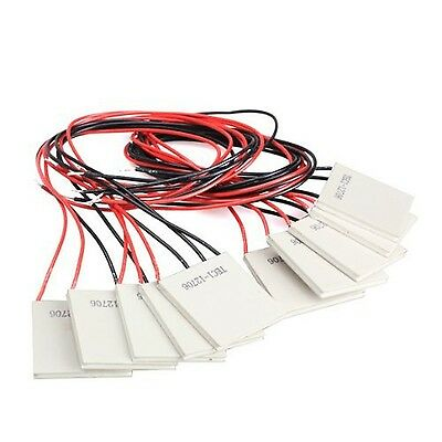 Vktech 10Pcs TEC1-12706 Thermoelectric Cooler Heat Sink Coolin... 2-Day Delivery