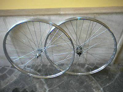 Couple Steel Wheels Size 28 Suitable For 1-3/8-5/8 Beretta Bike With Rod Brakes
