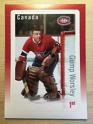 Gump Worsley Stamp Canada Post