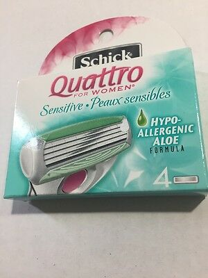 Schick Quattro for Women 4-Pack Sensitive Hypo-Allergenic Aloe Formula Cartridge