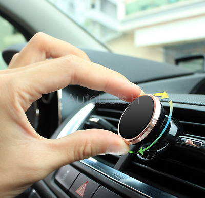 360 Degree GPS PHONE Magnetic Universal Car Holder Air Vent Outlet Mount Gold