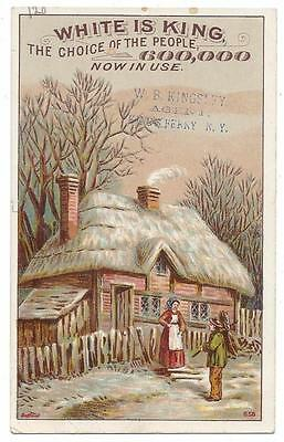 White Sewing Machine Trade Card - Bufford Lith - W.B. Kingsley, King's Ferry, NY