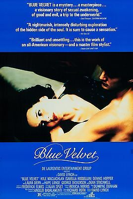 Blue Velvet (1986) Original Movie Poster  -  Rolled