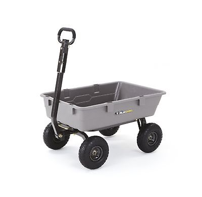 "Gorilla Carts Poly Garden Dump Cart with Steel Frame and 10"" Pneumatic... NO TAX"