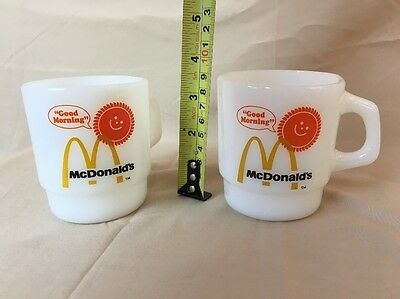 2 Fire King Stacking Mugs Good Morning McDonalds