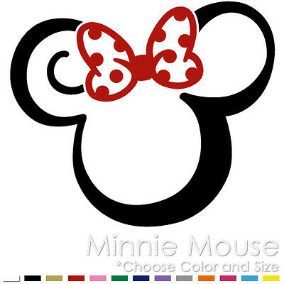 Tribal Minnie Mouse Two Color Tattoo Mickey Disney Vinyl Decal Sticker (Mm-11)