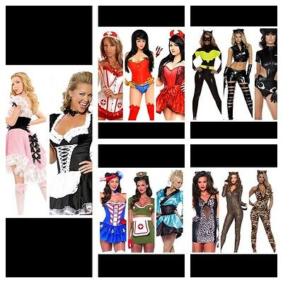 bafada2b3 15 Wholesale Lot Sexy Halloween Burlesque Costumes Leg Avenue Daisy Corsets
