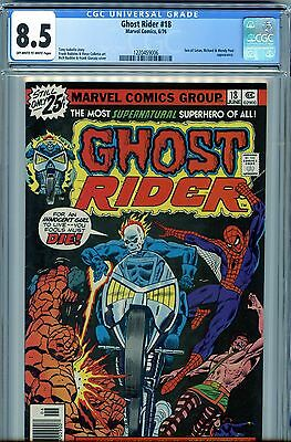 Ghost Rider 18 CGC 8.5 OW - WHITE PAGES  Nicolas Cage Collection w COA