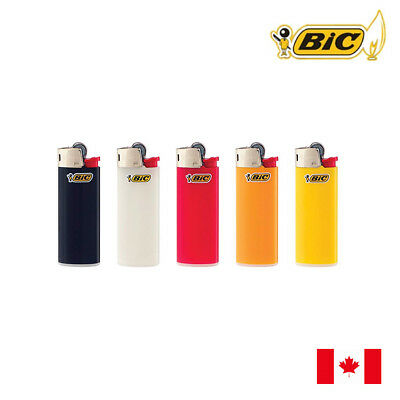 5 BIC Classic Mini Size Assorted Colour Lighter
