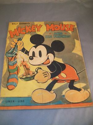 Walt Disney's  Mickey Mouse And His Friends  Whitman 904  1936 Christmas Book