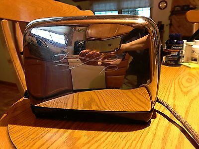Antique Vintage Toaster Camfield 24-1-2 Chrome Automatic Pop Up 2 Slice Works