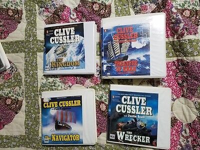 Clive Cussler CD Audio Books Lot of 4