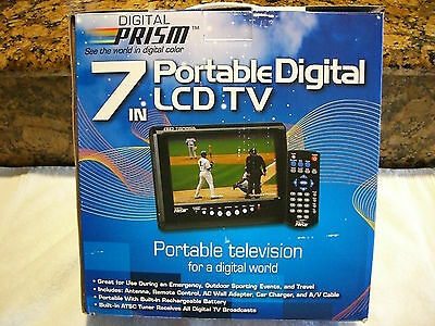 DIGITAL PRISM ATSC 710 7 Portable LCD TV With Built In ATSC NTSC Tuner