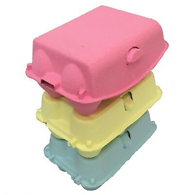"""SMALL PARTY/CRAFT PACK"" 4 PINK+4 BLUE+4 YELLOW 6's EGG CARTONS EASTER/CHOCOLATE"