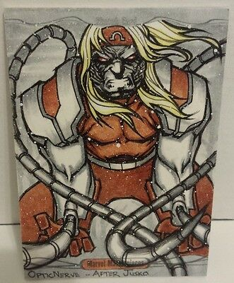 Marvel Masterpieces 2016 Amazing Omega Red Sketch High Quality Optic Nerve