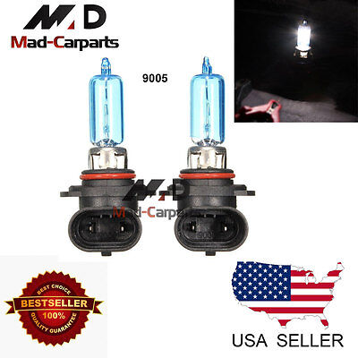 9005 100w Halogen Xenon Headlight Replacement 2x Light Bulb Lamp 6000K White