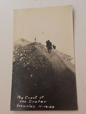 WWI RPPC The Crest of the Crater Vesuvius Real Photo Postcard (Volcano) 11-16-20