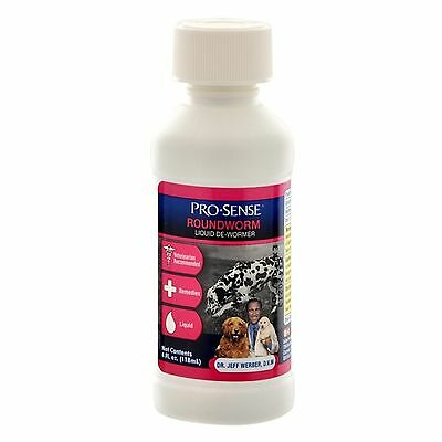 Pro-Sense Roundworm De-Wormer Liquid 4oz for Dogs