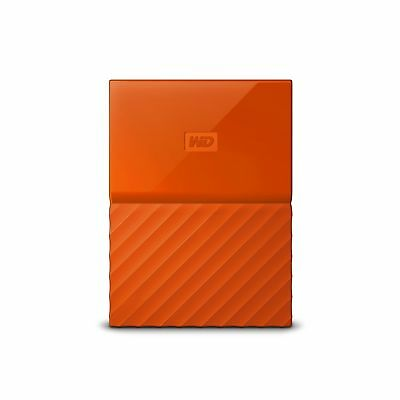 WD 1TB Orange My Passport Portable External Hard Drive - USB 3.0 - WDB... NO TAX