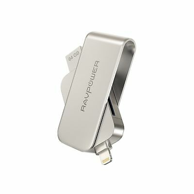 Lightning to SD Card Reader with Memory Stick RAVPower 64GB iPhone Fla... NO TAX