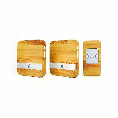 Four Horse Wood Grain Wireless Doorbell with 2 Receiver Plugin... 2 Day Shipping
