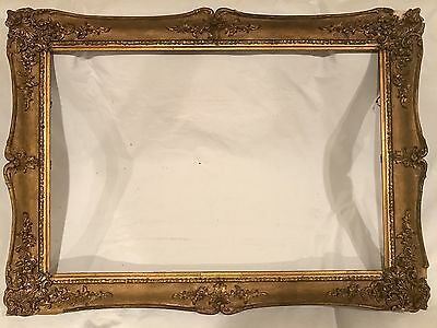 Antique 32x22 Victorian Gold Gilt Picture Frame - 19th Century Large