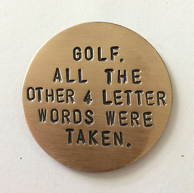Golf Marker in Copper, Bronze or Stainless Steel