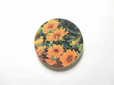【Sunflower】 Magic Absorbent Drink Coaster – Set of 3 Round Coasters