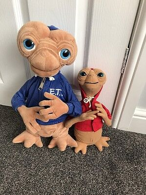 Large 12' & 8' E.T Official Universal Plush Toy, Blue Hoody & Red Hoody