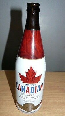 Molson Canadian Beer Olympic Victory Empty Bottle Team Canada 2014