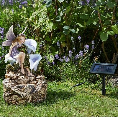 Solar Powered Liliana Fairy Cascade Fountain Outdoor Water Feature