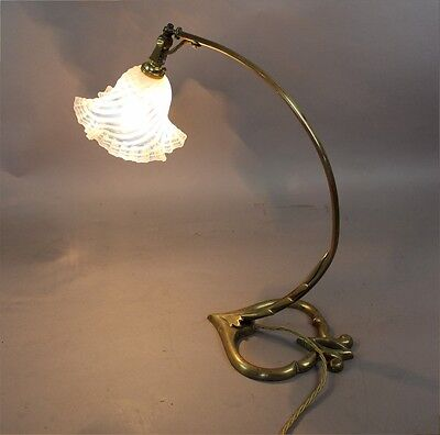 Arts and Crafts brass table lamp in the manner of Benson