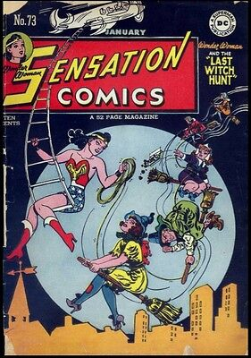 Sensation Comic vol 1 Issue 1-116 on Dvd rom 1942-1953 Golden Age