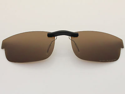 0a04f5b817 Custom Fit Polarized CLIP-ON Sunglasses For Carbon Plate (53) OX5079 53X18  Brown