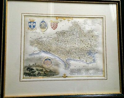 Antique Map of Dorsetshire by Thomas Moule c.1835