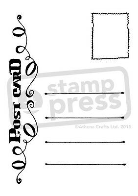 A7 'Postcard' Unmounted Rubber Stamp (SP00003652)