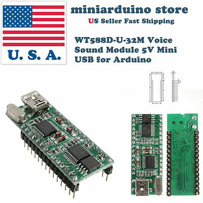 WT588D-U-32M Voice Sound Module 5V Mini USB for Arduino