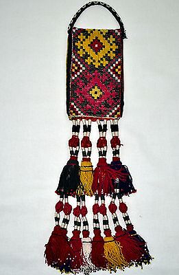 Old Hand Made Woven Wall Hanging Antique Pure Silk Suzani Vintage Embroidery 195