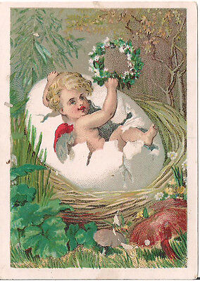 Antique Victorian Trade Card Great Atlantic and Pacific Tea Co. Easter Baby