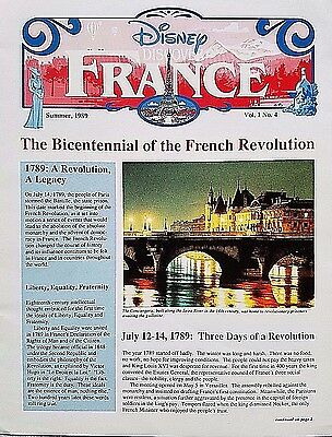 Rare Summer 1989 Euro Disney Disneyland Paris Discover France Cast Newsletter