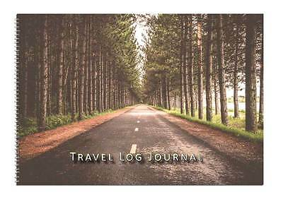 Caravan, Motorhome Owners, Travel Record Log & Journal - Forest Road Straight D3