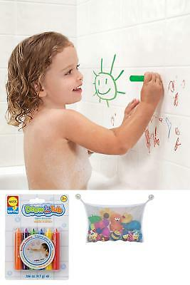 Baby Kids Fun Washable Bath Crayons Play Time Educational Toy&Tub Toys Organizer