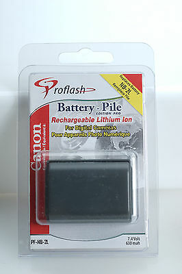 2 NEW Proflash PF-NB-2L Lithium Ion Batteries for CANON NB-2L Rebel XT 350D 400D