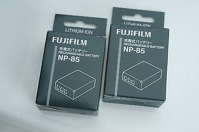2 NEW GENUINE FujiFilm NP-85 Rechargeable Li-ion Battery Packs (PAIR) F-NP-85-U