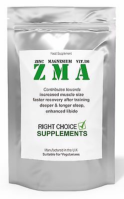 Zma Tablets - Zinc Magnesium & Vitamin B.6 - Muscle Growth Testosterone Booster