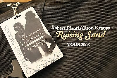 Robert Plant RAISING SAND Tour MINT Official Messenger Bag Alison Krauss VIP '08
