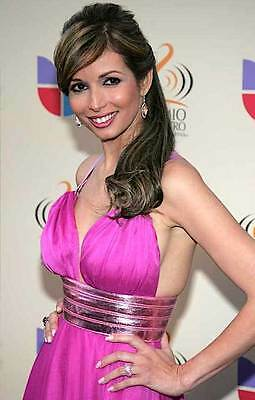 GISELLE BLONDET 2006 hot crimson gown music awards arrival color 6x10 candid