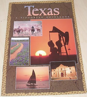Texas State Pictorial Guidebook 1994 Paperback Picture Guide Book Of Texas